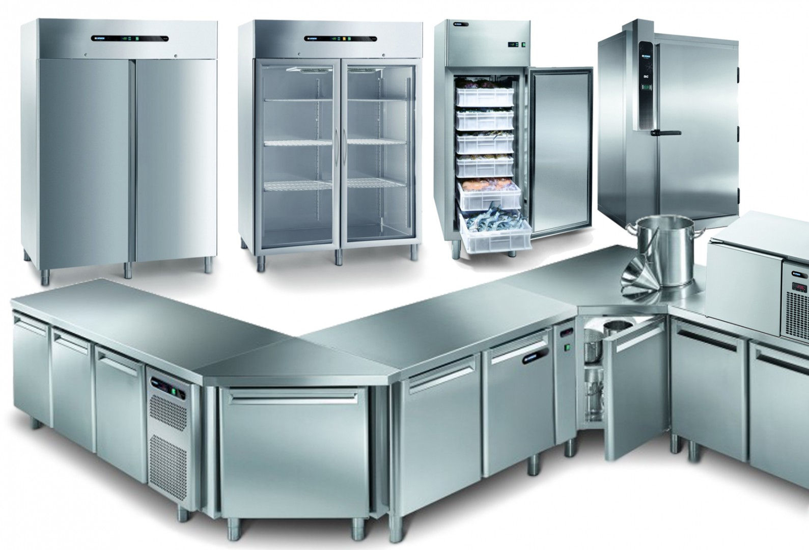 Stainless-steel-chillerscabinets-and-refrigerated-tables