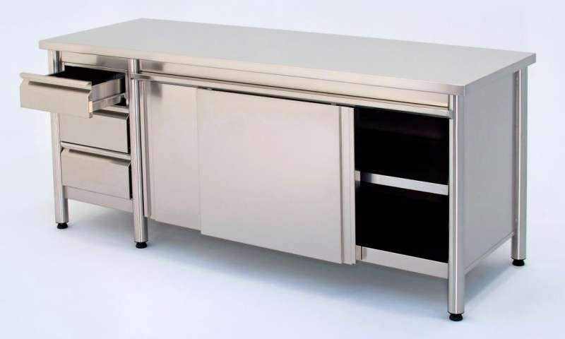Inox table cupboard